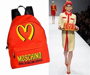 We're lovin' it! Moschino take McDonalds style down the ...