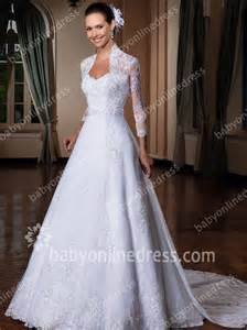 cheap wedding dresses with sleeves wedding dresses high neck sleeve lace appliques a line sweep sequins sash