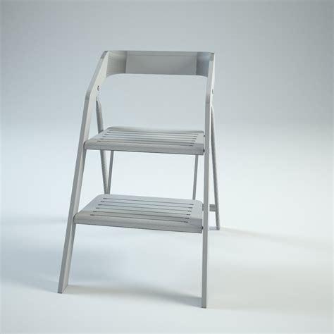 usit stepladder chair 2 step version set 3d models