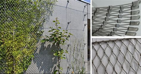 Plant Climbing Ropes Green Wall Wire Mesh Fence For