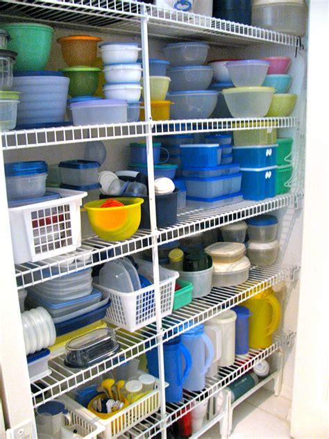 May Days Organizing The Tupperware Storage Closet