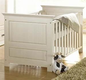 Massivholz Babybett Juniorbett Wei Gewachst Kinderbett