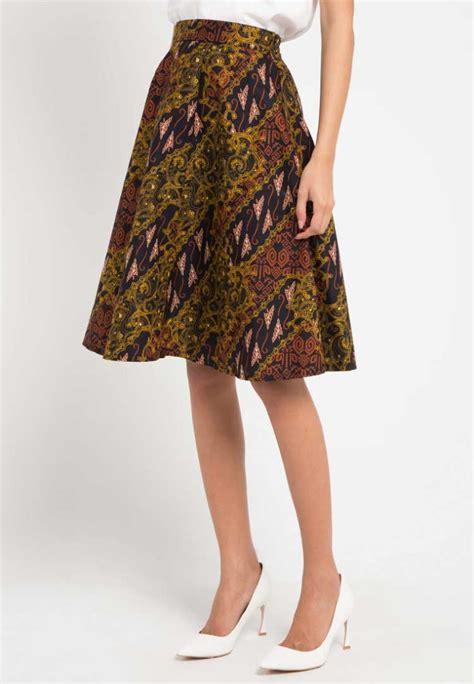 model rok batik panjang pendek modern terbaru