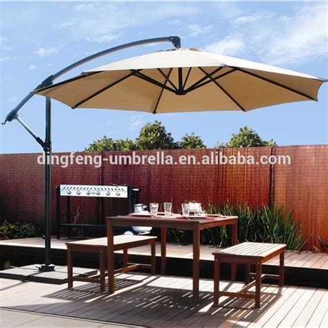 10 roma hanging garden umbrella 3m patio offset
