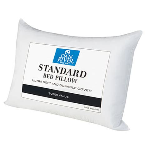 standard pillow size dan river standard size bed pillow