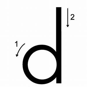 Letter D Printing Worksheet - Both Cases (trace 3, print 3)
