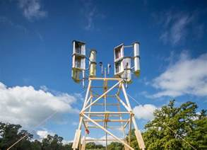 Solar Powered Spot Light by This 30 Wind Turbine Is Made From Bike Parts And