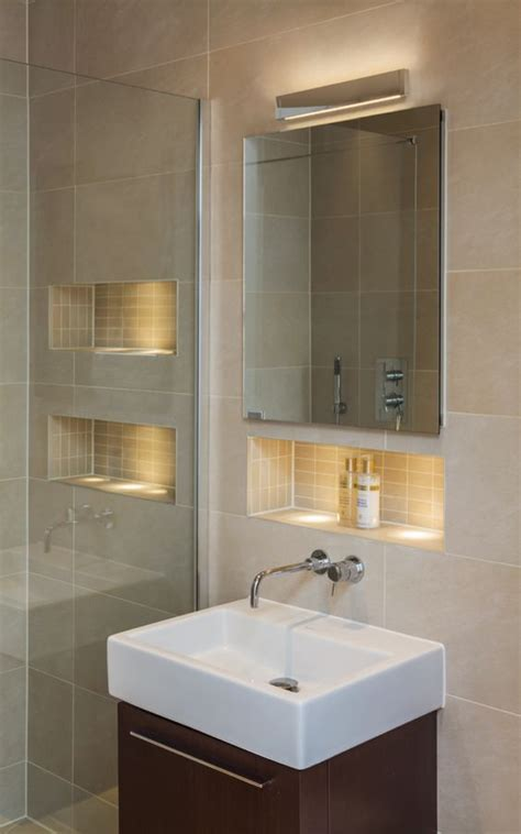 wall lighting mirror cabinets and wall niches on