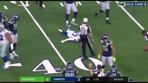 cowboys wr allen hurns ankle injury  seahawks youtube