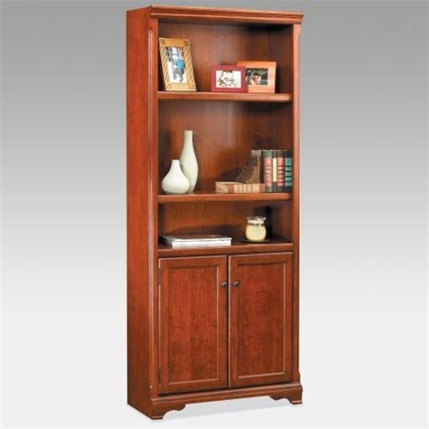 cherry bookcase with doors kathy ireland charlotte wood bookcase with doors cherry