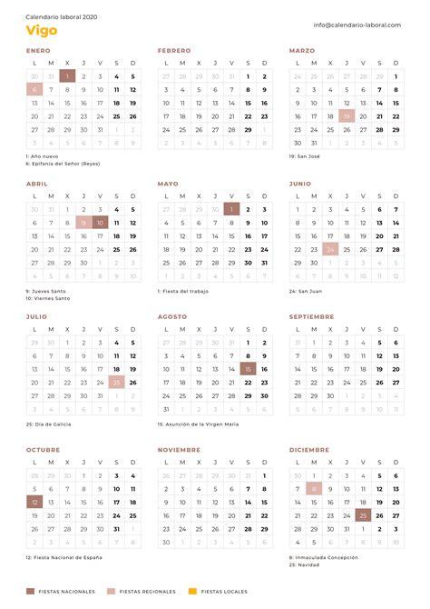 calendario laboral vigo calendario laboral