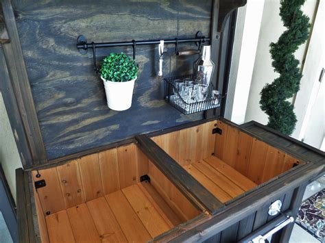 diy potting bench turned outdoor bar   guest