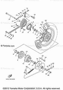 Yamaha Motorcycle 2000 Oem Parts Diagram For Rear Wheel