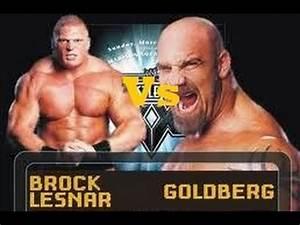 Wrestlemania 20: Goldberg Vs Brock Lesnar-WWE 2K14 - YouTube