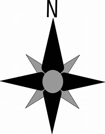 Compass North Clipart Direction Directions Clip Vector
