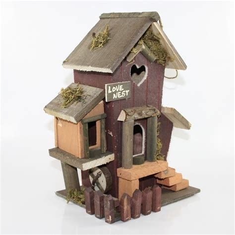 nichoir en bois 224 suspendre maison pour oiseaux eur 25 00 picclick fr