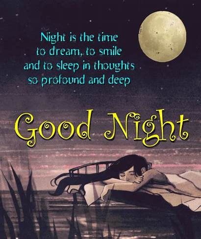 Night Goodnight Cards Greeting Greetings Card Send