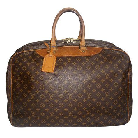 rare louis vuitton weekender bag  iconic lv monogram  leather trim  antique row