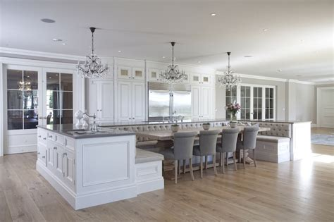 Ideas For Kitchen Islands With Seating - kitchen islands as banquettes