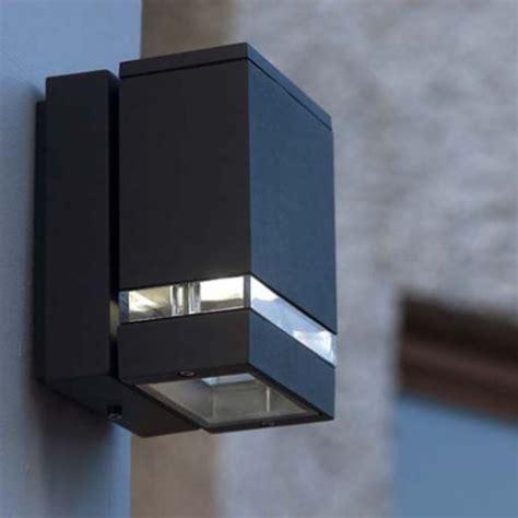 lutec 6051 focus led gr 3 8 watt outdoor led wall light
