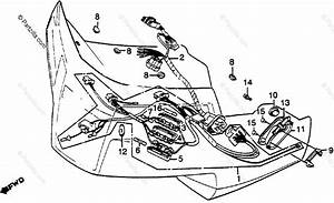 Honda Motorcycle 1983 Oem Parts Diagram For Fairing Wire