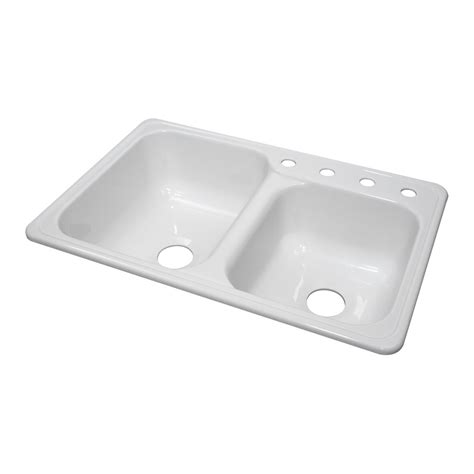 Acrylic Kitchen Sinks by Lyons Industries Dks Gourmet Choice Dual Offset Basin