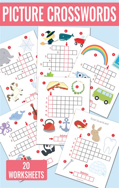 picture crossword puzzles kindergarten and grade 1 451   Picture Crossword Puzzles