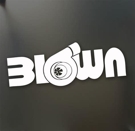 turbo blown boost sticker funny jdm drift honda lowered
