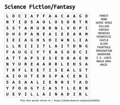 Word Science Fiction Fantasy Puzzle Thewordsearch Another