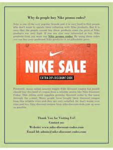 Nike Online Coupons Codes