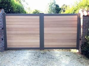 Portail De Jardin : portail aluminium et bois wwwtoriportailsbe extrieur ~ Melissatoandfro.com Idées de Décoration