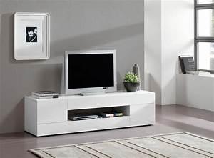 Meuble Tv Blanc 160 Cm Meuble Tv 120 Cm Bois Maisonjoffrois