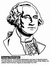 Coloring Washington George President Pages Crayola Presidents States United Printables Print American He sketch template