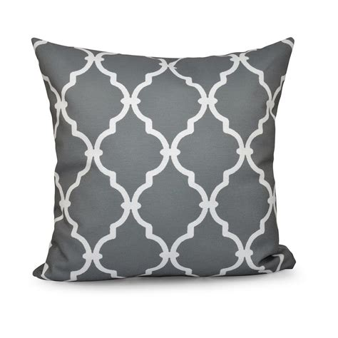 Decorative Pillows by 16 In X 16 In Trellis Grey Decorative Pillow Pgn6gy5 16