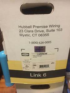New Hubbell C6rrew Premise Wiring Cable Cat 6 Utp White