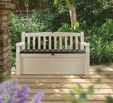 banc en resine coffre banc de jardin en r 233 sine marron et beige 265l