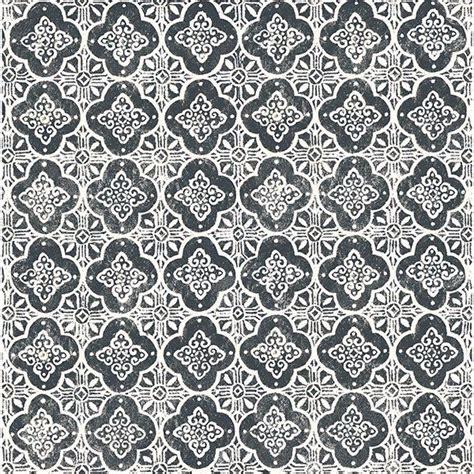 seville black geometric tile wallpaper  brewster