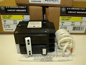 Ge Thql2150gf1 50a 2 Pole Ground Fault Circuit Breaker