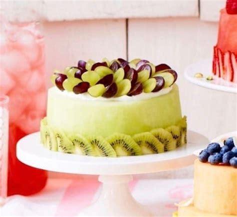 fresh melon cake  watermelon honeydew