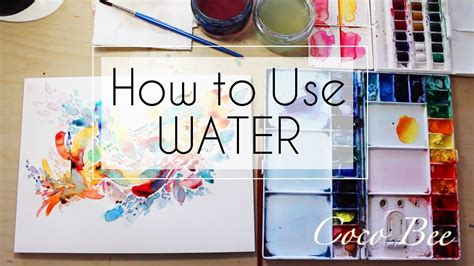 How To Use Water  Introduction Watercolor Tutorial Youtube