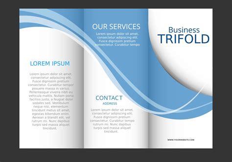template design  blue wave trifold brochure