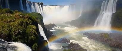Falls Rainbow Gifs Iguazu Reddit