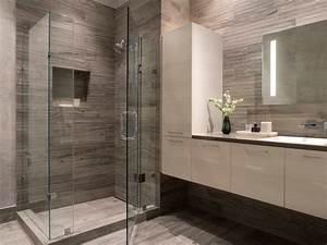 Modern Gray + White Bathroom - Contemporary - Bathroom ...