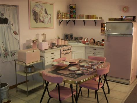 1950s Pink Retro Kitchen  Rockabelle Bombshell