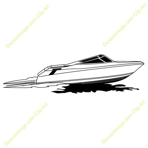 motor boat clipart black and white speed boat clipart clipground
