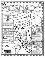 Tornado Coloring Pages Weather Storm Warning Colour Printable Disaster Severe Natural Print Realistic Getdrawings Twister Getcolorings Drawing Crafts sketch template