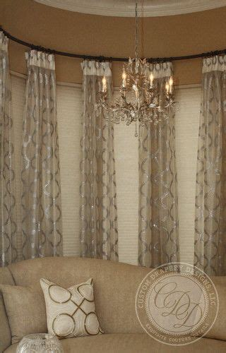 Curved Drapery Rods For Windows by Curved Draperyrod Baywindow Curved Window Bay