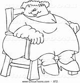 Fat Coloring Clipart Lady Circus Freak Chair Sitting Djart Getdrawings Drawing sketch template