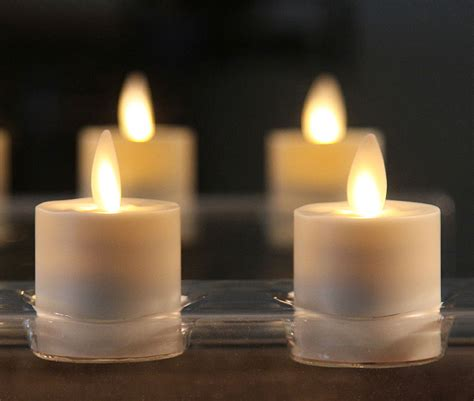 flameless tea lights with timer votive candles with timer set of 2 led candles home