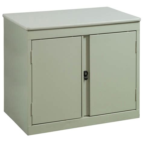 Used 2 Door Storage Cabinet, Putty  National Office